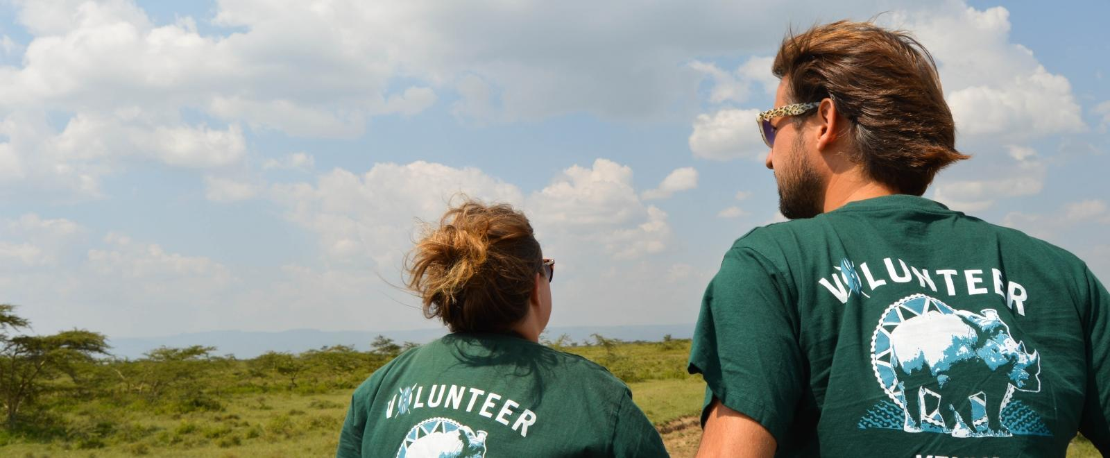 Teenagers conduct a wildlife census as part of their conservation volunteer work in Kenya